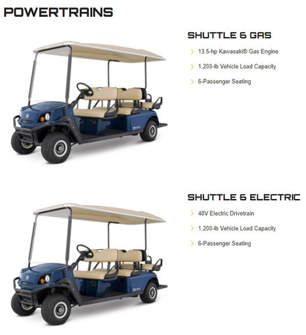CUSHMAN SHUTTLE 6 (GAS/ELECTRIC)