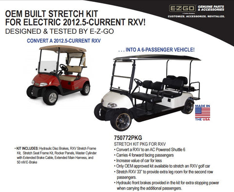 E-Z-GO RXV Stretch Kit (Call For Pricing)