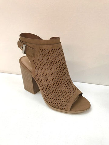 Open Toe Taupe Booties