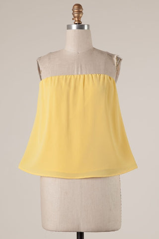 Strapless Tank Yellow