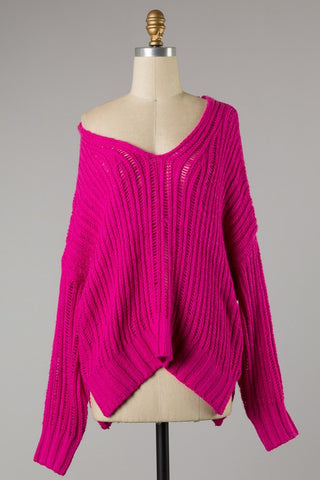 Everything Pink Dolman Sweater