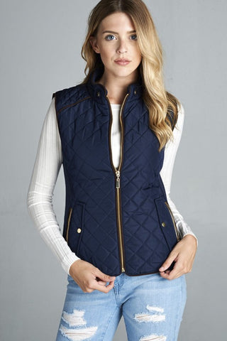 *Quilted Vest Navy