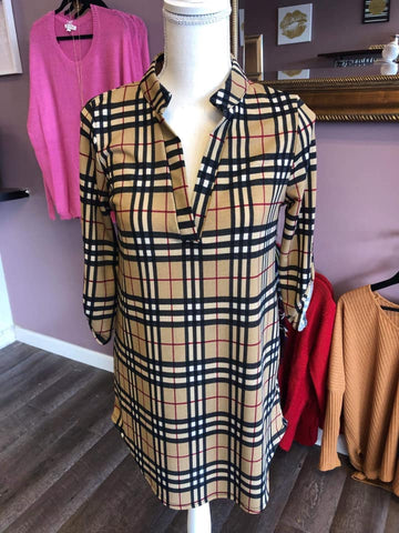 Burberry Plaid Tunic Top