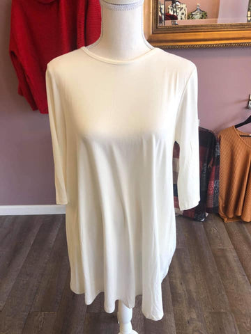 White Piko Dress