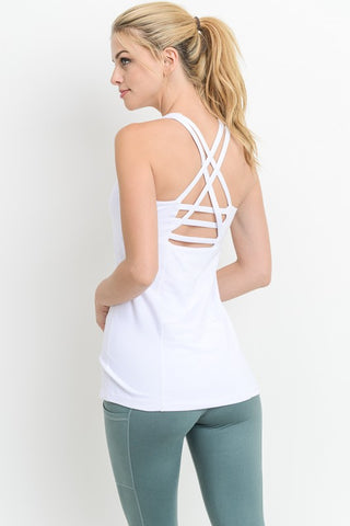 Tops Active White Tank