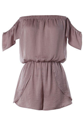 Mauve Off the Shoulder Romper