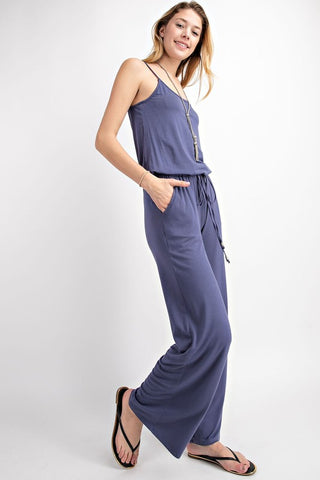 Grey Blue Jumpsuit
