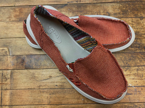 Sanuk Womens Donna Hemp  in Auburn
