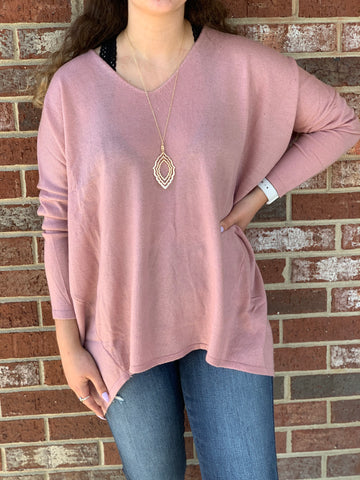 *Emersyn Sweater in Mauve