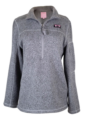 Simply Southern Knit Pullover in Light Grey