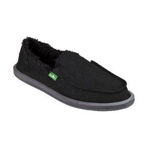 Sanuk Donna Hemp Chill Fur Black
