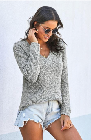 All About Me Cozy Textured Sweater