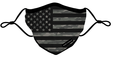 Simply Southern Camo American Flag Face Mask