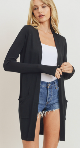Basic layering Cardigan in Black