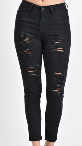 *Black Kan Can Distressed Jeans