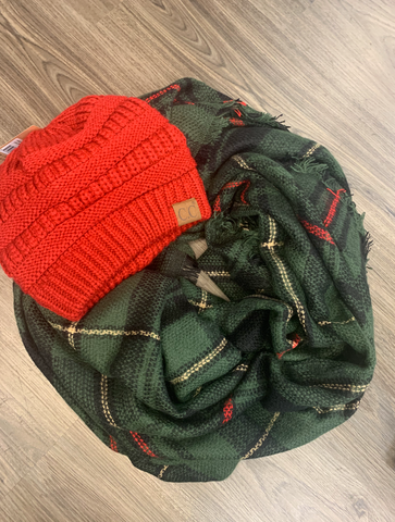 Timber Green Blanket Scarf