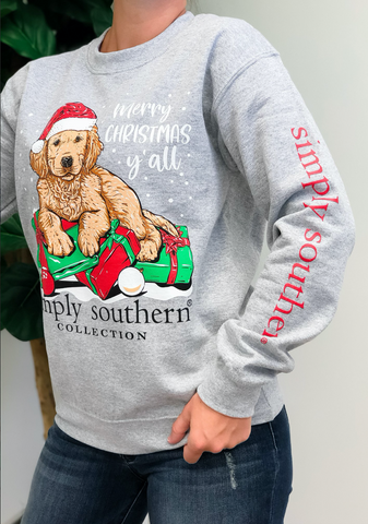 *Simply Southern Merry Christmas Y'all Crew Neck