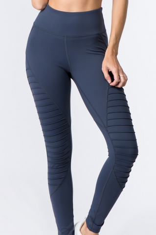 *Smokey Blue Moto Leggings