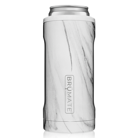BRUMATE HOPSULATOR SLIM | WHITE MARBLE (12OZ SLIM CANS)