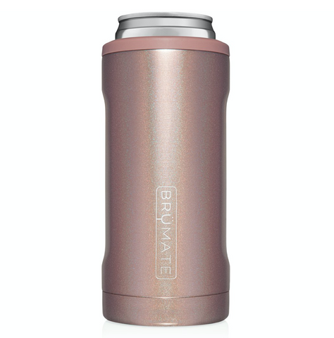 BRUMATE HOPSULATOR SLIM | GLITTER ROSE GOLD (12OZ SLIM CANS)