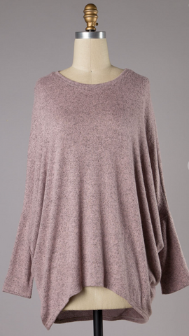 *Made in Mauve Brushed Knit Top