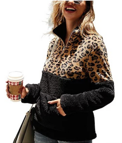 *Leopard Sherpa in Black