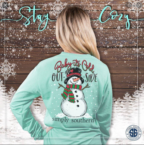 *Simply Southern Baby Its Cold Outside Long Sleeve Shirt