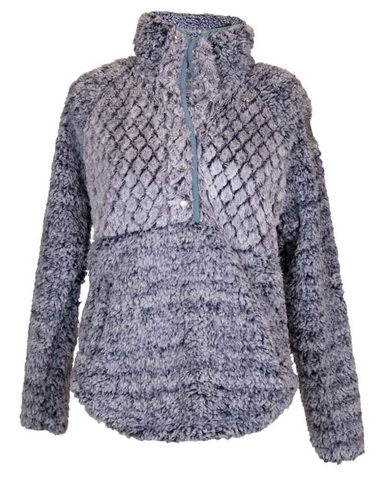 *Simply Southern Piped Sherpa Pullover in Navy