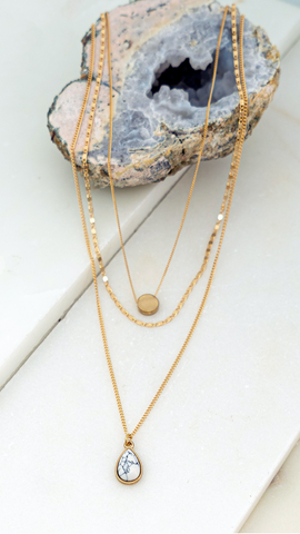 Expect the Best Gold Layered Necklace