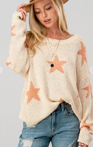 All the Stars Sweater in Blush