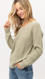 Twist of Spice Sweater in Sage