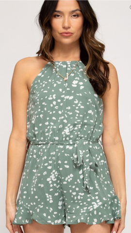 Spring Is In The Air Romper in Sage