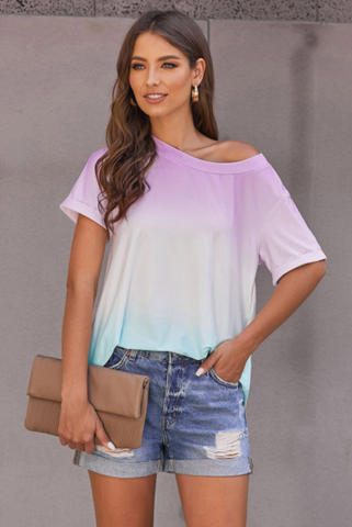Pastel Ombre Tunic Top