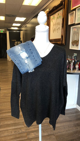 *Emersyn Sweater Charcoal Grey