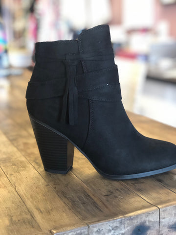 Mini Booties Tassel Black