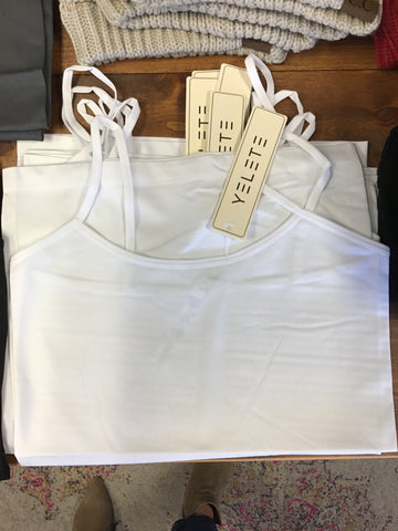 Basic Layering Cami White