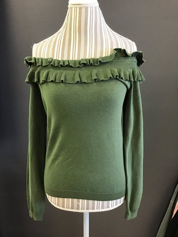 Kayla Off the Shoulder Sweater Olive