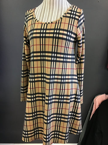 Burberry Dress Long Sleeve