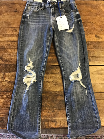"*Distressed Medium Wash ""Eunina Jude"" Skinny Jeans"
