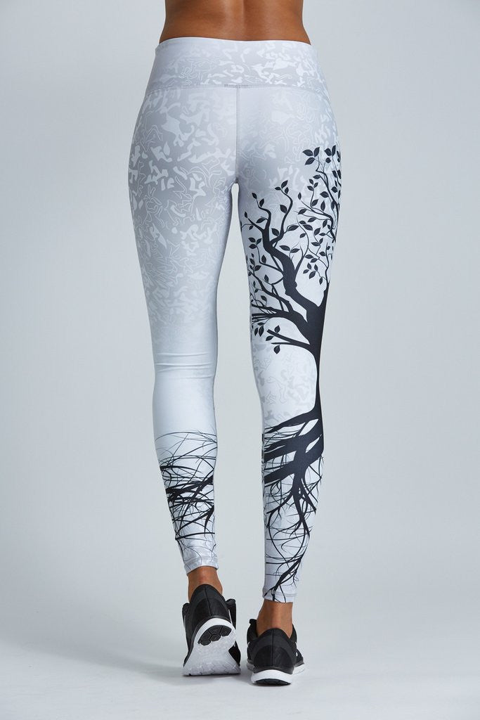 7b730f69a7fa20 Become one with nature, in these yoga pants. If you are practicing yoga,  try Vrikshasana or Tree Pose in these leggings!