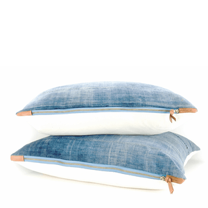 Modern Boho | Light Blue Vintage African Indigo Accent Pillowbest decor - HUNTEDFOX