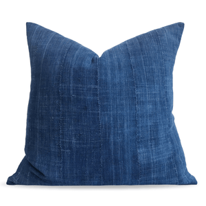Modern Boho | Dark Blue Vintage African Indigo Accent Pillowbest decor - HUNTEDFOX