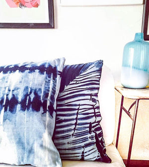 "Shibori Denim Pillow | ""Wyatt""best decor - HUNTEDFOX"