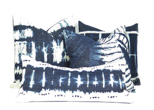 "Shibori Denim Pillow | ""Josie""best decor - HUNTEDFOX"