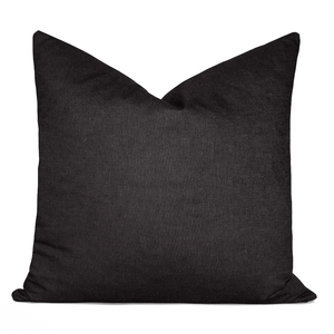 Essential Solid  Charcoal Black Pillowbest decor - HUNTEDFOX