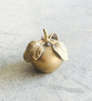 VINTAGE MID CENTURY MODERN BRASS ORNATE APPLEbest decor - HUNTEDFOX