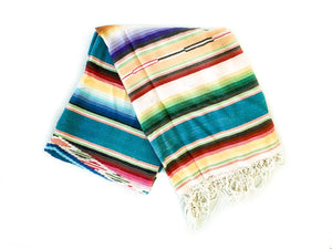 Vintage Saltillo Blanket // Emeraldbest decor - HUNTEDFOX