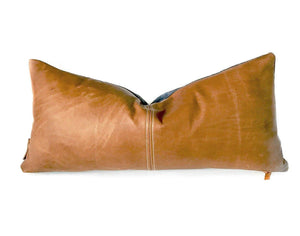 Leather Accent Pillow - H U N T E D F O X