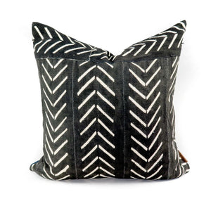 African Mudcloth Chevron Patch Pillowbest decor - HUNTEDFOX