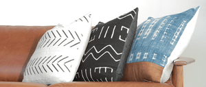 Modern Boho | Black Mudcloth Pillow Xbest decor - HUNTEDFOX
